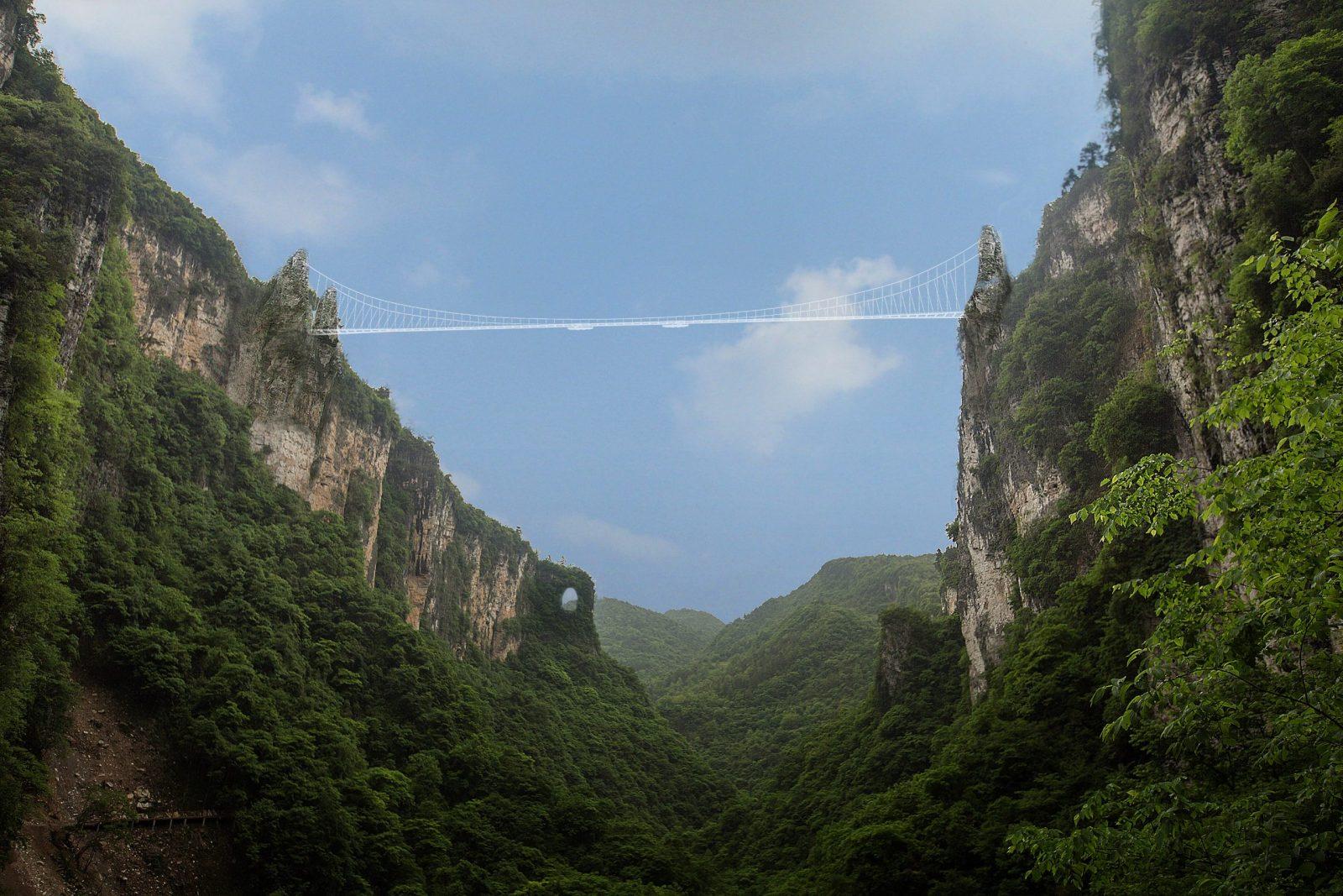 Así será el puente de cristal más grande del mundo.