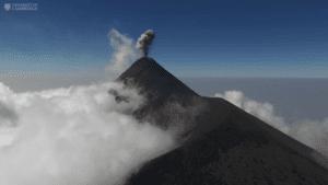 Drones para la investigación de volcanes
