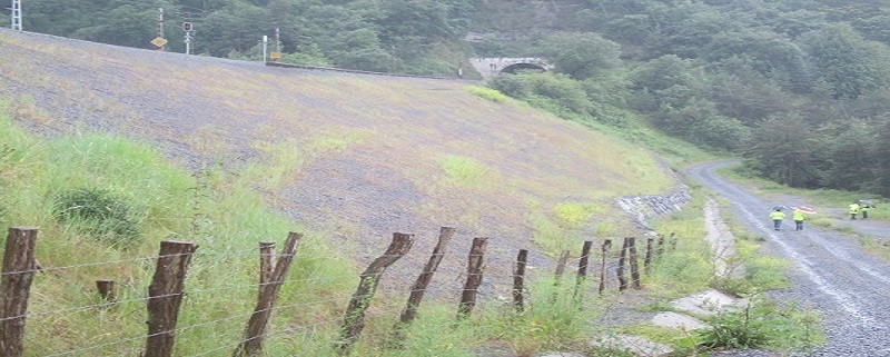 Corrección para construcción de terraplenes en laderas