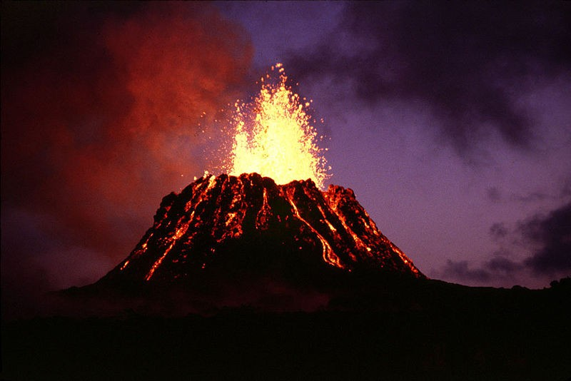 Las erupciones volcánicas más recientes y sus tipos