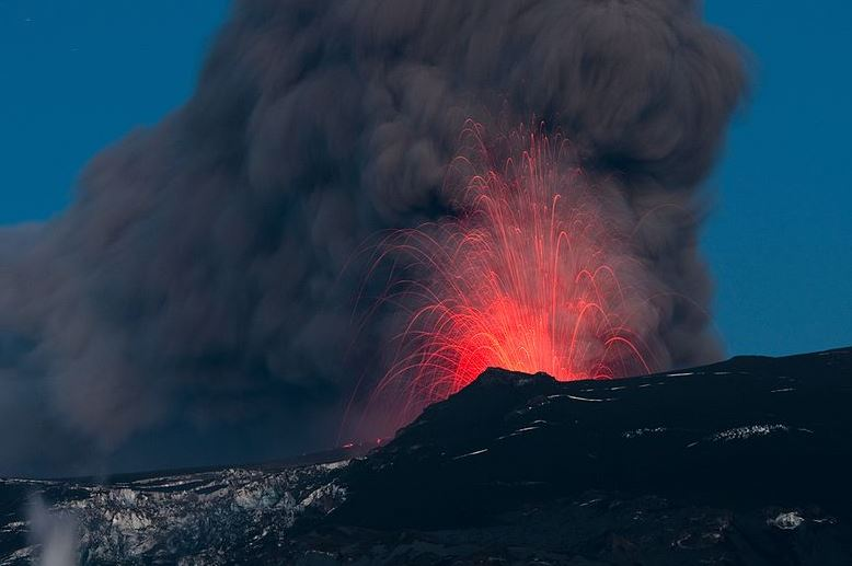 Volcanes en activo y tipos de erupciones volcanicas islandia