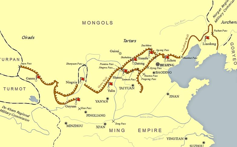 Muralla china mapa