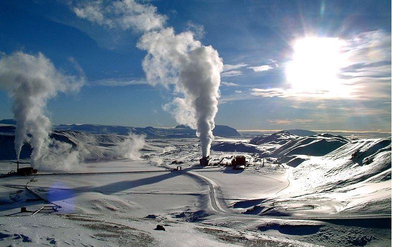 que es la geotermia geiser en la nieve
