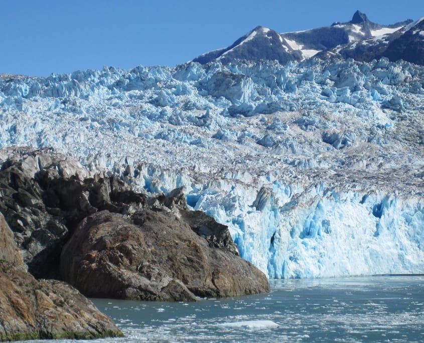 glaciar por temperatura