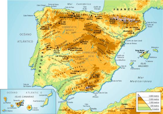 Sistemas Beticos Mapa Fisico.Las Montanas Mas Altas De Espana Ingeoexpert